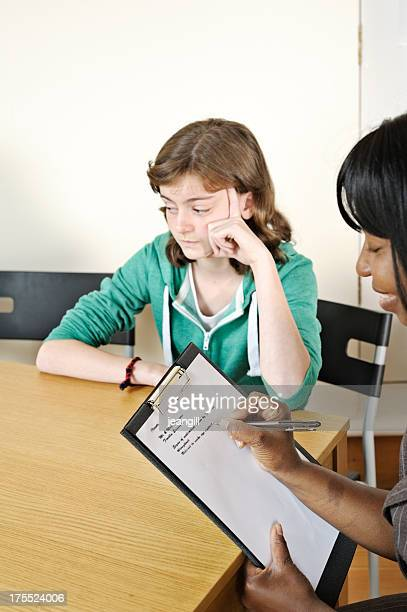 Teenager in counselling session