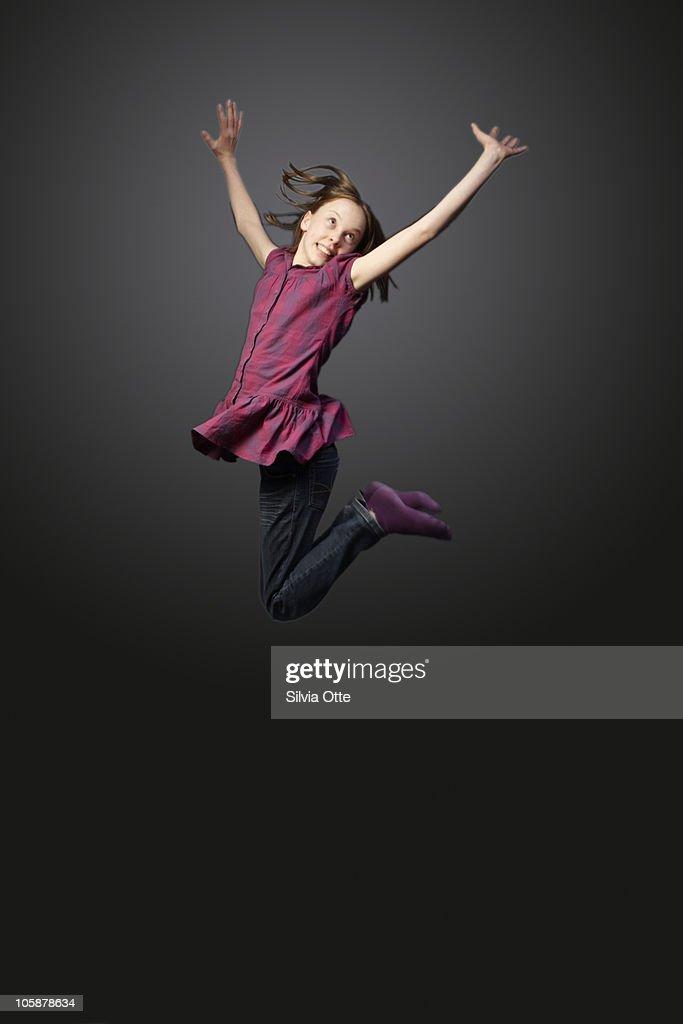 teenager jumping high : Stock Photo