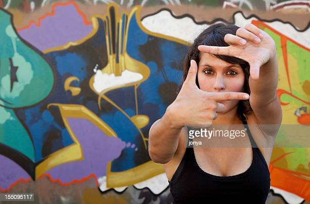 Adolescent faisant une image