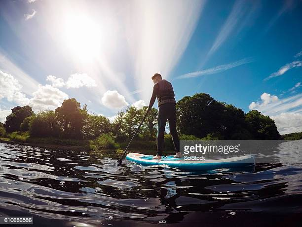 Teenager Paddleboarding