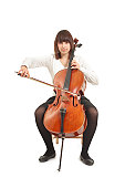 teenager with cello