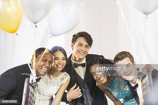 Teenagers and young adults having fun at party