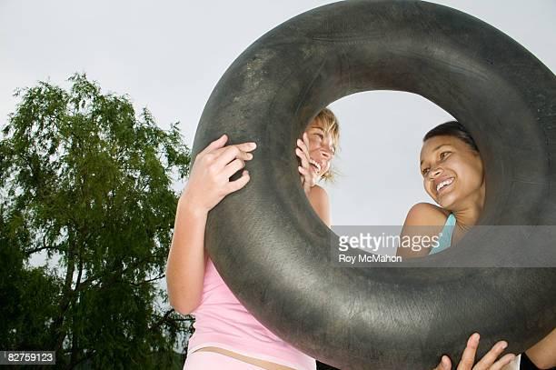 teenagers at lake