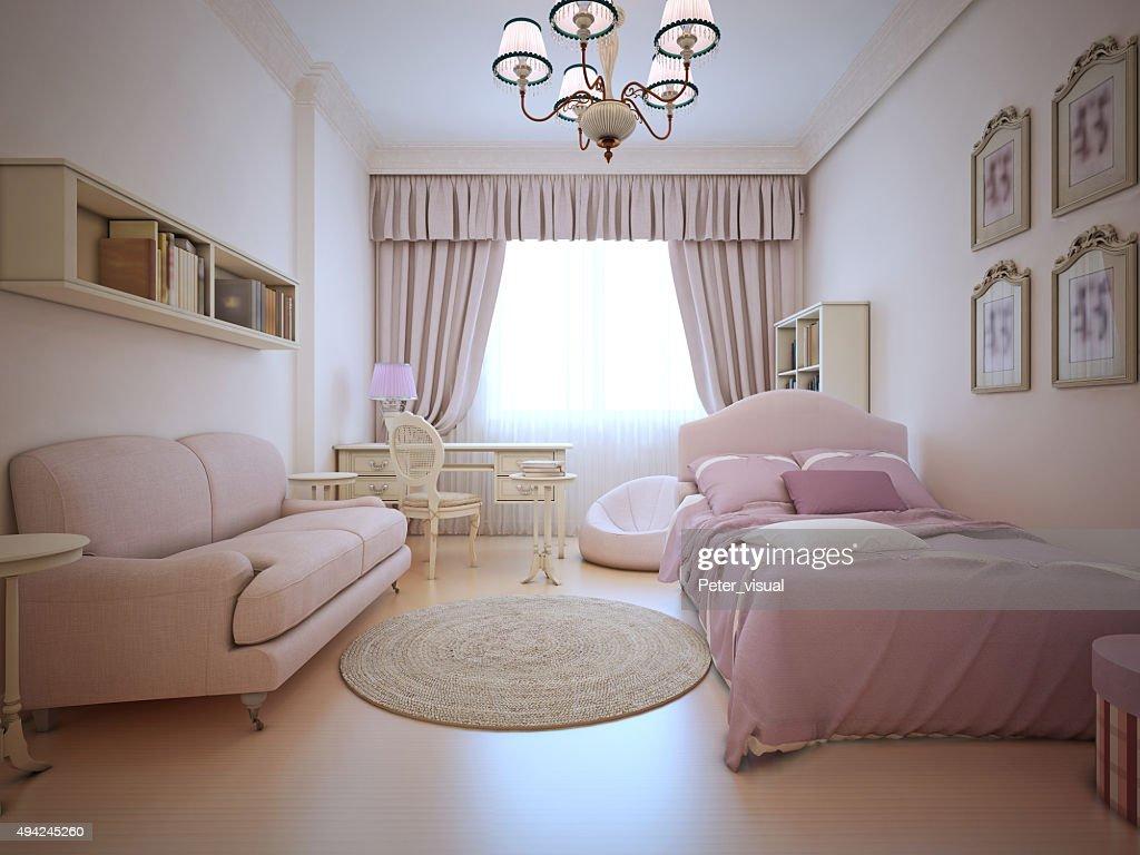 Camera Da Letto Con Divano : Adolescenti con divano e camera da letto foto stock thinkstock