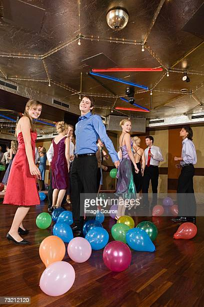 Teenagers dancing