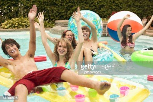 party pool teen boy