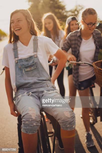 Teenagers on a summer break