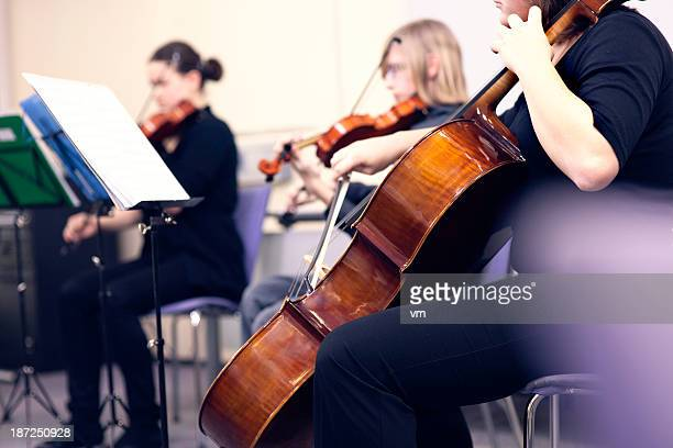 Teenagers Playing On Classical School Concert