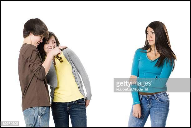 teenagers telling secrets