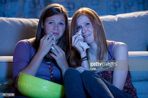 Teenagers Watching Sad Movie