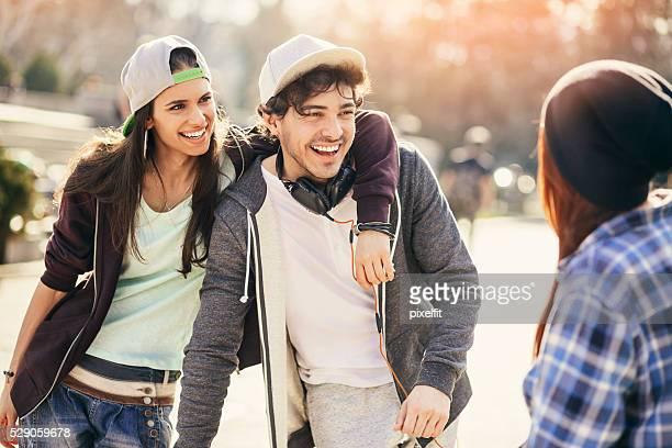 Teenages on the street