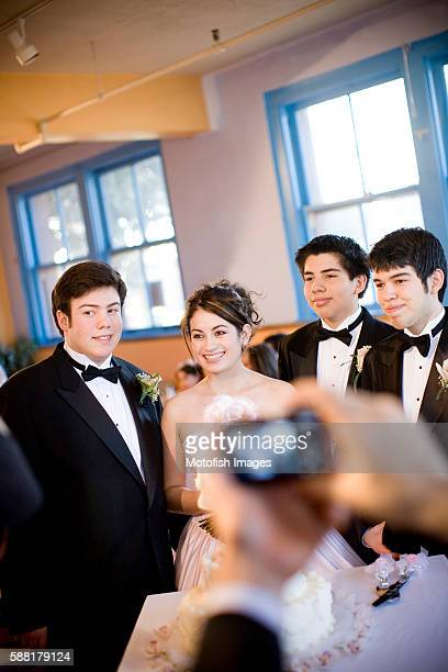 Teens at Quinceanera Party