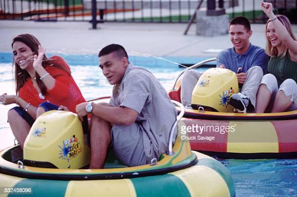 Teens at water park