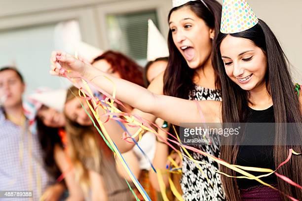 Teens group celebrating Birthday