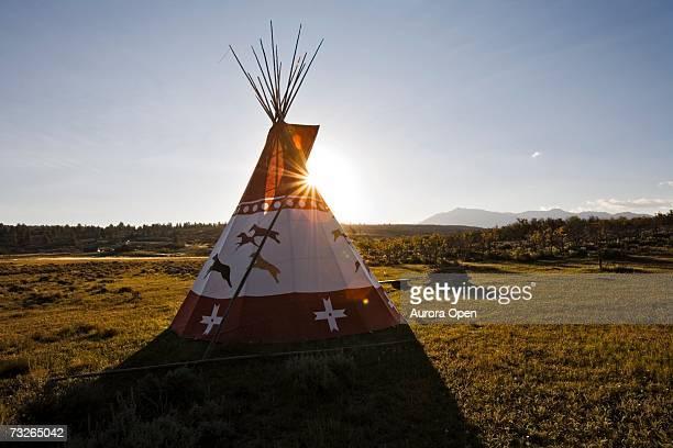 A teepee on the Uncompahgre plateau, Colorado.