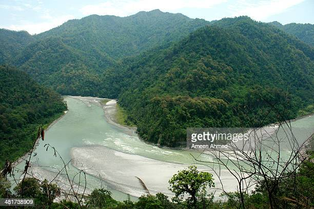 Teesta River amidst Himalayan forests