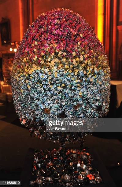 Teflon by Mary Katrantzou at The Faberge Big Egg Hunt Grand Auction raising money for Action for Children and Elephant Family at Royal Courts of...