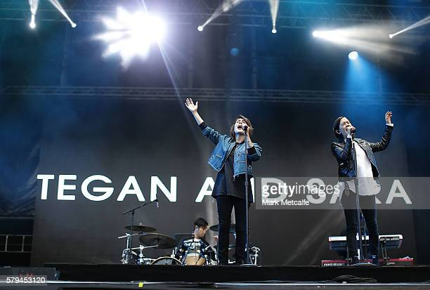 Tegan and Sara perform during Splendour in the Grass 2016 on July 24 2016 in Byron Bay Australia
