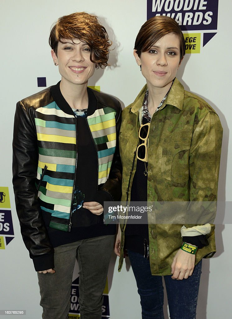 <a gi-track='captionPersonalityLinkClicked' href=/galleries/search?phrase=Tegan+and+Sara+-+Entertainment+Group&family=editorial&specificpeople=2303838 ng-click='$event.stopPropagation()'>Tegan and Sara</a> pose at the mtvU Woodie Awards on March 14, 2013 in Austin, Texas.