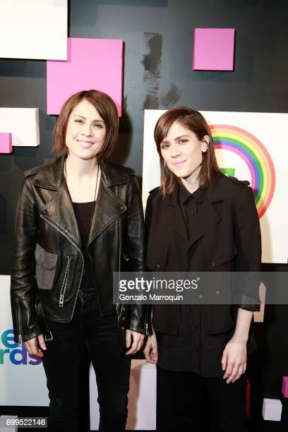 Tegan and Sara Quin attend the 2017 Village Voice Pride Awards at Capitale on June 21 2017 in New York City