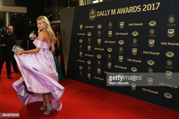 Tegan Martin arrives ahead of the 2017 Dally M Awards at The Star on September 27 2017 in Sydney Australia