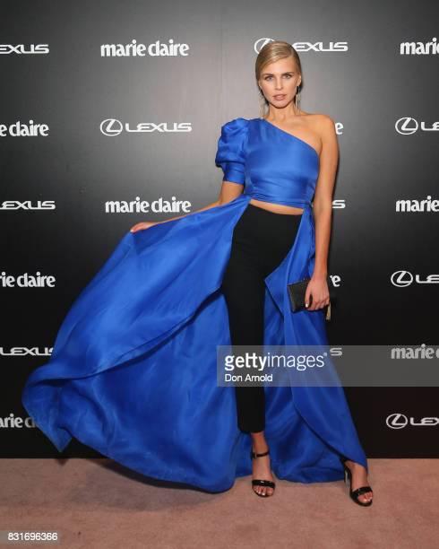 Tegan Martin arrives ahead of the 2017 Prix de Marie Claire Awards on August 15 2017 in Sydney Australia