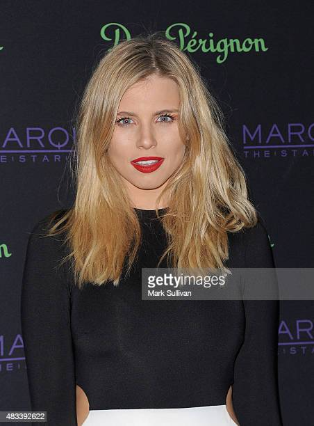 Tegan Martin arrives at the Dom Perignon Masquerade Party at The Star on August 8 2015 in Sydney Australia