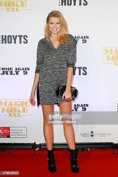 Tegan Martin arrives at the 'Magic Mike XXL' Australian premiere on July 6 2015 in Sydney Australia