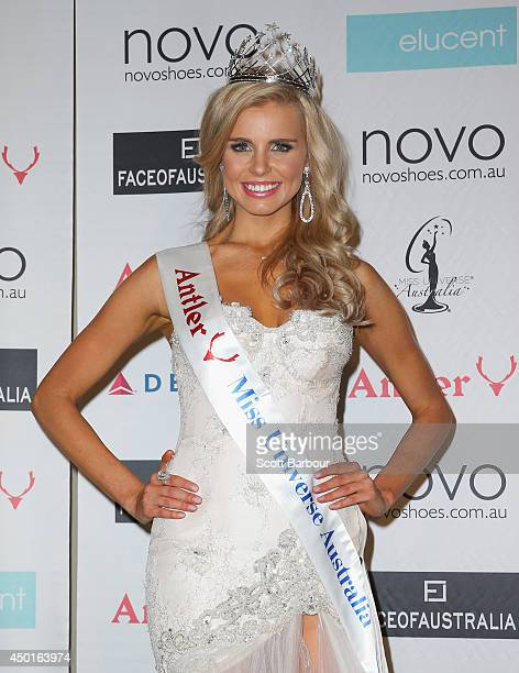 Tegan Martin of Newcastle New South Wales poses after being crowned Miss Universe Australia 2014 on June 6 2014 in Melbourne Australia
