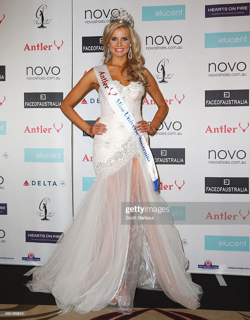 Tegan Martin of Newcastle, New South Wales poses after being crowned Miss Universe Australia 2014 on June 6, 2014 in Melbourne, Australia.