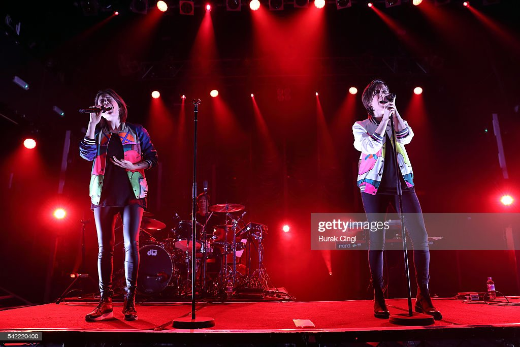 Tegan Quin and Sara Quin of Tegan and Sara performs live on stage at KOKO on June 22 2016 in London England
