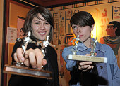 Tegan Quin and Sara Quin of the band Tegan and Sara host the Los Angeles screening of 'Get Along' at the Vista Theatre on November 15 2011 in Los...