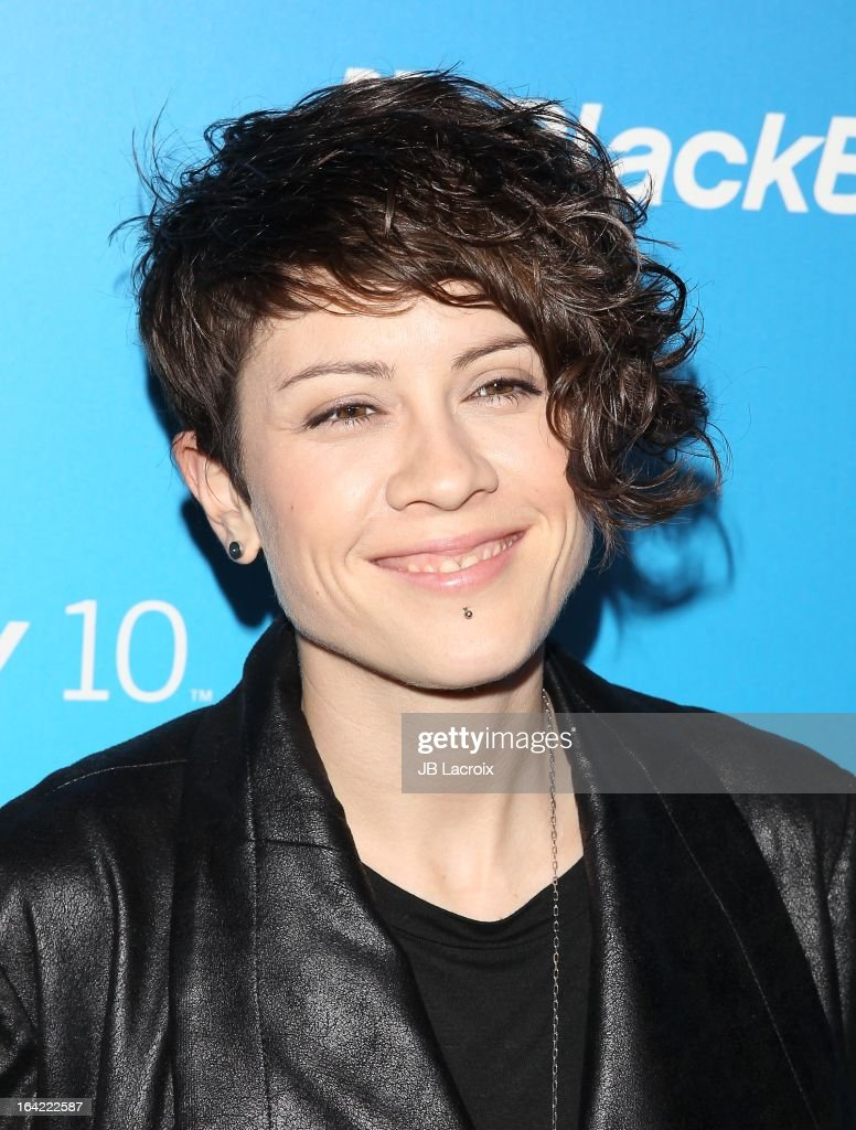 Tegan Quin attends the BlackBerry Z10 Smartphone launch party held at at Cecconi's Restaurant on March 20, 2013 in Los Angeles, California.