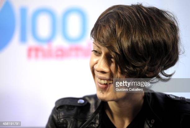 Tegan Quin of Tegan and Sara attends Y100's Jingle Ball 2013 Presented by Jam Audio Collection at BBT Center on December 20 2013 in Miami Florida
