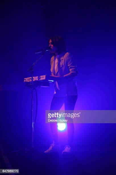 Tegan Quin of Tegan and Sara perform on stage at Vicar Street on February 19 2017 in Dublin Ireland