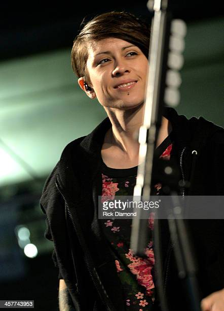 "Tegan Quin of Tegan and Sara performs at 933 FLZ's Jingle Ball ""PreShow Free Show"" on the Plaza 933 FLZ's Jingle Ball 2013 official preshow at the..."