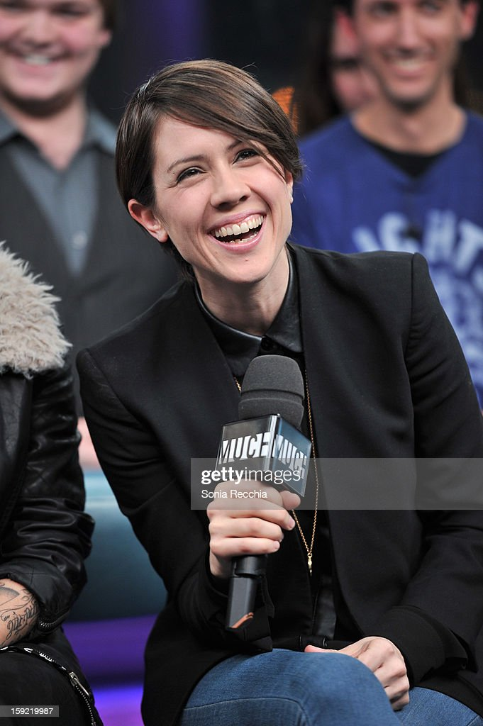 Tegan & Sara Appearance On NEW.MUSIC.LIVE at MuchMusic HQ on January 9, 2013 in Toronto, Canada.