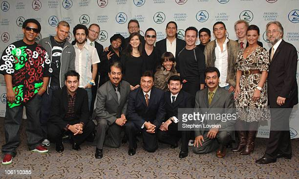 Tego Calderon Calle 13 Marcos Witt India Gabriel Abaroa President of The Latin Recording Academy Andrea Arroyo Obie Bermudez Alejandra Guzman Fonseca...