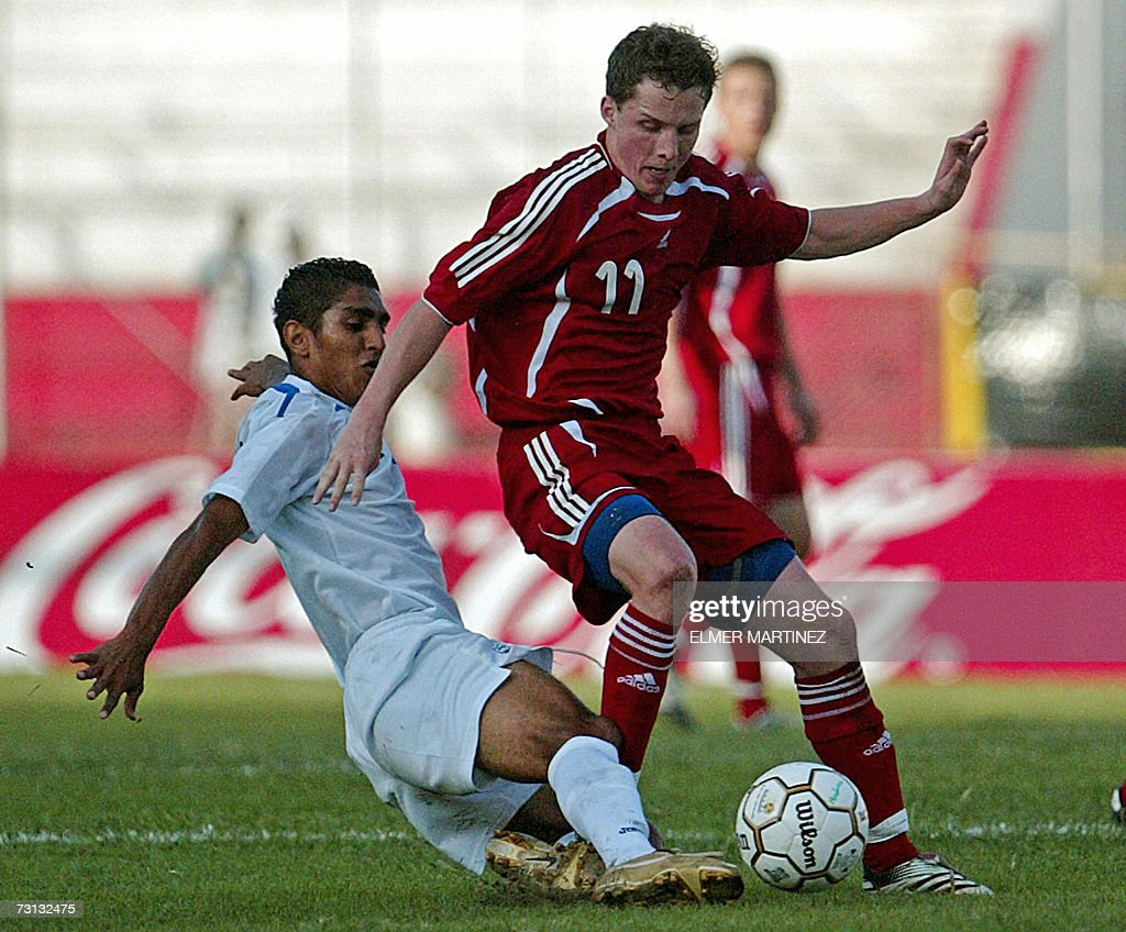 mauricio sabillon getty images danish morten nielsen r vies honduran mauricio sabillon during a friendly football match