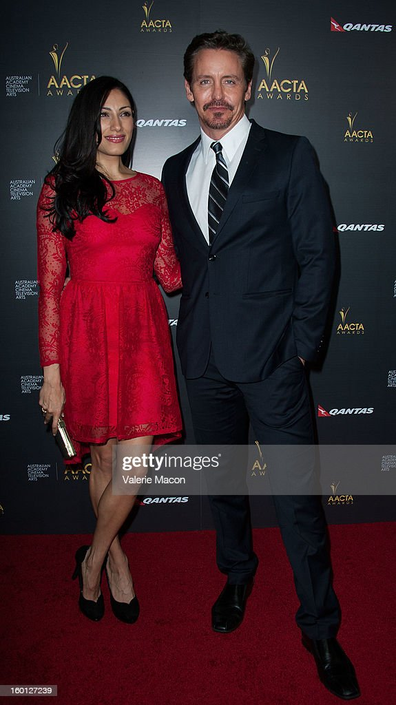 Tehmina Sunny and Charles Mesure arrives at Australian Academy Of Cinema And Television Arts' 2nd AACTA International Awards at Soho House on January 26, 2013 in West Hollywood, California.