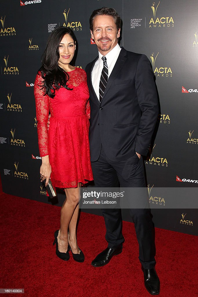 Tehmina Sunny and Charles Mesure attend the 2nd AACTA International Awards at Soho House on January 26, 2013 in West Hollywood, California.