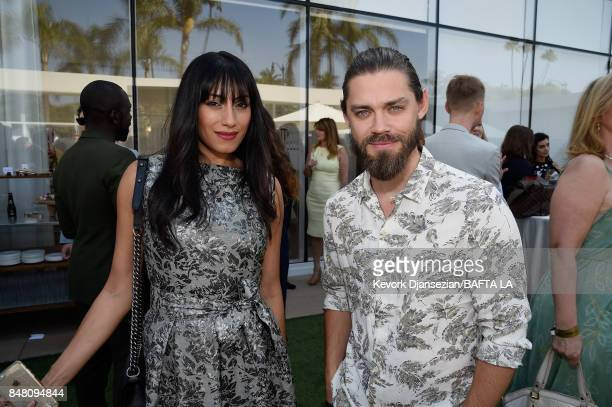 Tehmina Sunny and Tom Payne attend the BBC America BAFTA Los Angeles TV Tea Party 2017 at The Beverly Hilton Hotel on September 16 2017 in Beverly...