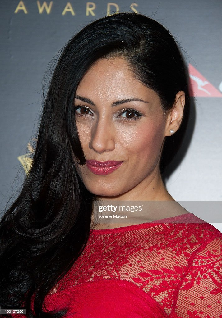 Tehmina Sunny arrives at Australian Academy Of Cinema And Television Arts' 2nd AACTA International Awards at Soho House on January 26, 2013 in West Hollywood, California.
