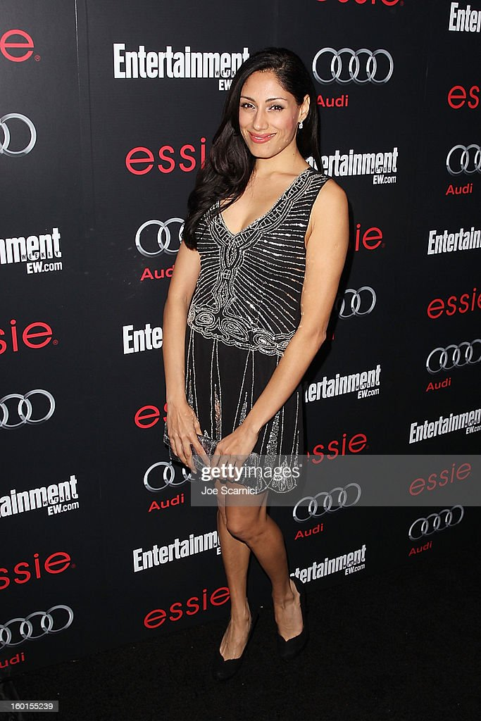 Tehmina Sunny arrives at Entertainment Weekly Screen Actors Guild Awards Pre-Party at Chateau Marmont on January 26, 2013 in Los Angeles, California.