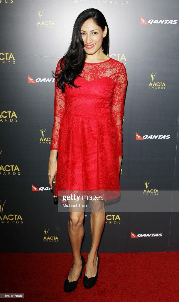 Tehmina Sunny arrives at the 2nd AACTA International Awards held at Soho House on January 26, 2013 in West Hollywood, California.