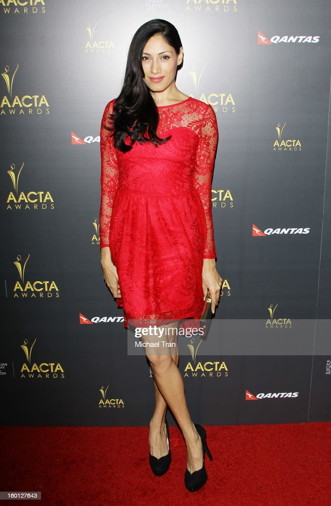 Tehmina Sunny arrives at the 2nd AACTA International Awards held at Soho House on January 26, 2013 in West Hollywood, California.