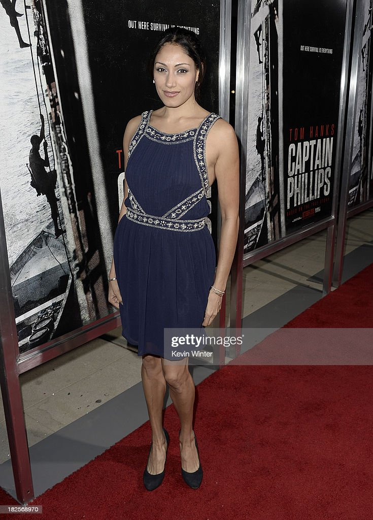 Tehmina Sunny arrives at the premiere of Columbia Pictures' 'Captain Phillips' at the Academy of Motion Picture Arts and Sciences on September 30, 2013 in Beverly Hills, California.