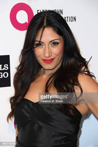 Tehmina Sunny attends the 23rd Annual Elton John AIDS Foundation's Oscar Viewing Party on February 22 2015 in West Hollywood California