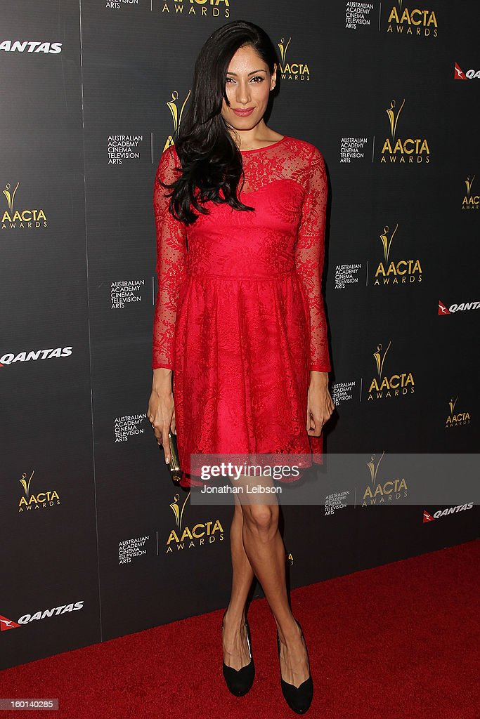 Tehmina Sunny attends the 2nd AACTA International Awards at Soho House on January 26, 2013 in West Hollywood, California.