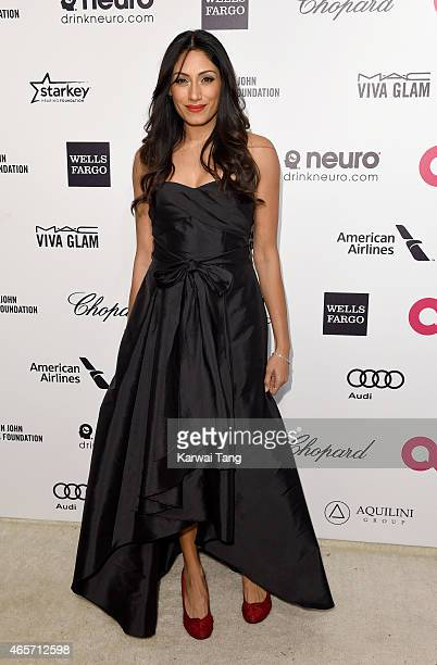 Tehmina Sunny attends the Elton John AIDS Foundation's 23rd annual Academy Awards Viewing Party at The City of West Hollywood Park on February 22...